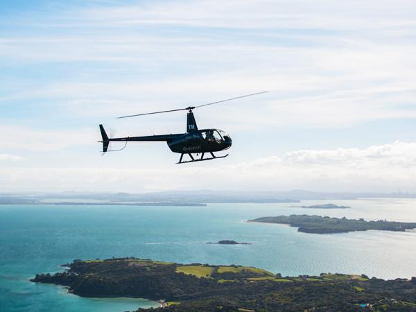 Heliflite Scenic R44 Waiheke Island Scenic Mudbrick Heli-Dining