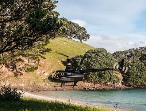 Heliflite Beach Landing Coromandel Helicopter Picnic