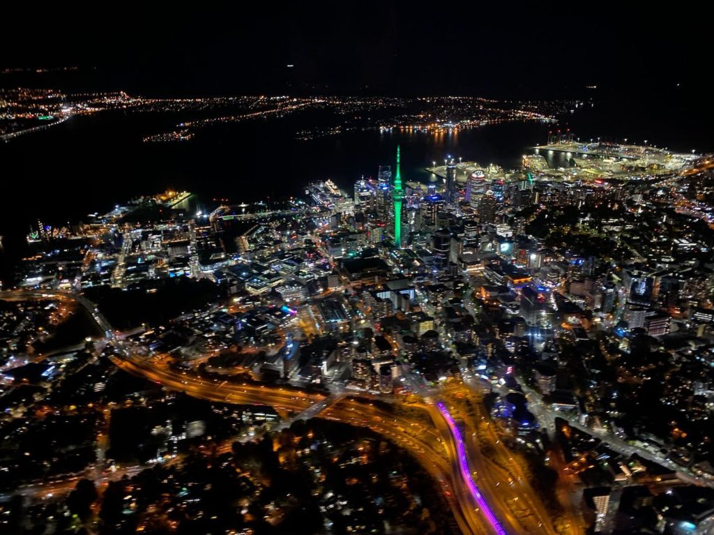 Auckland Night Skyline Helicopter Night Rating