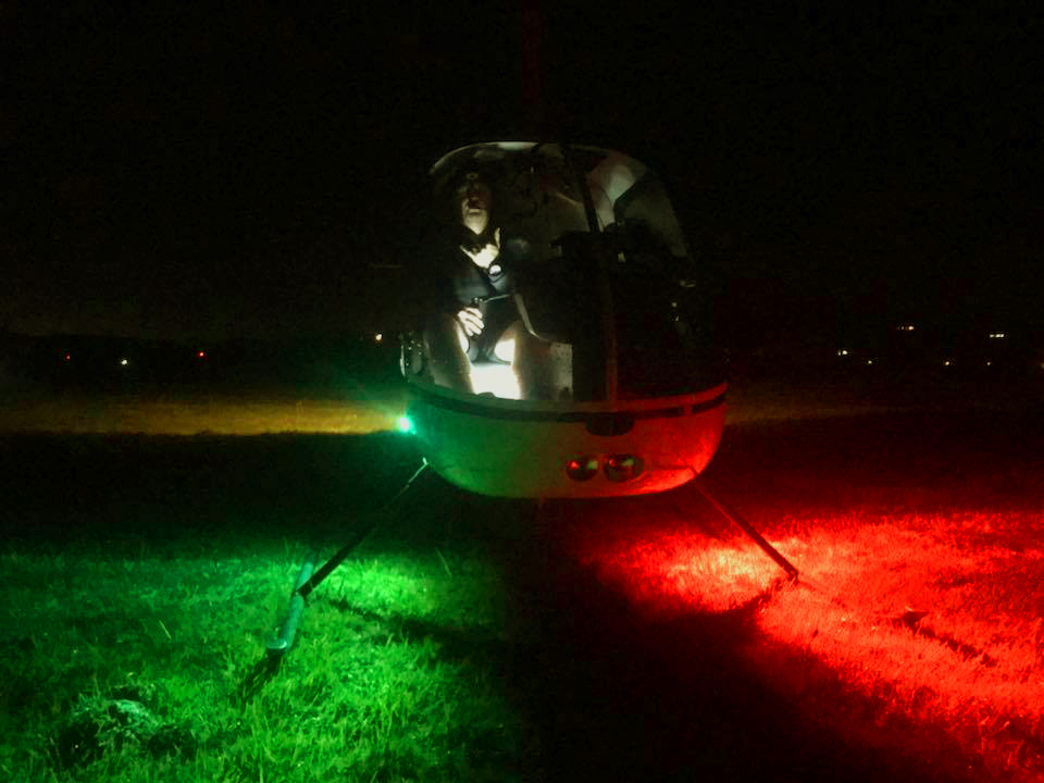 Night Flight R22 Helicopter Night Rating