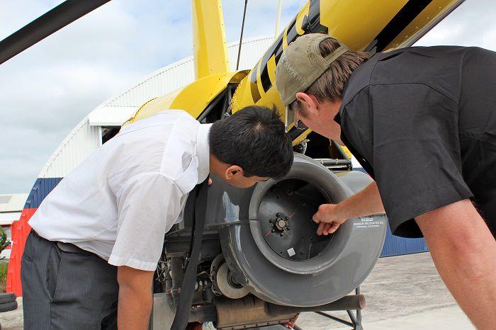 R22 Pre-Flight at Heliflite Charter & Training
