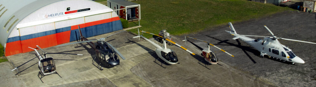 Heliflite Charter & Training Helicopter Fleet - Ardmore Airport, Auckland
